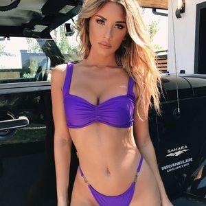 I.am.Gia purple bikini top; XS